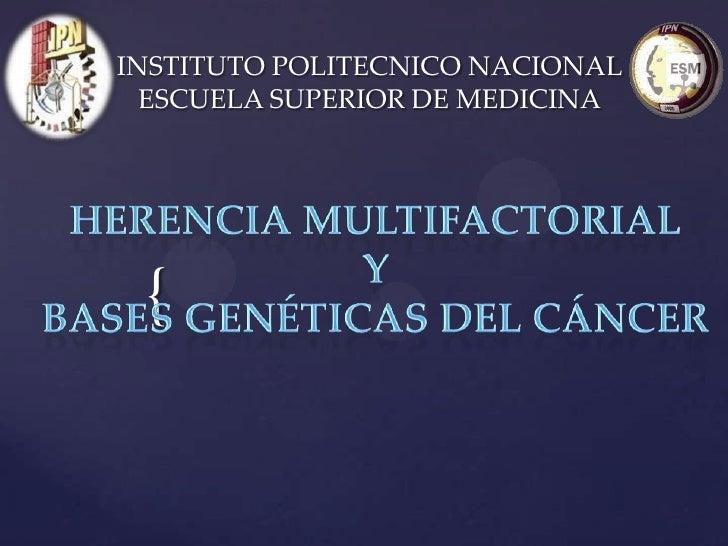INSTITUTO POLITECNICO NACIONAL  ESCUELA SUPERIOR DE MEDICINA {
