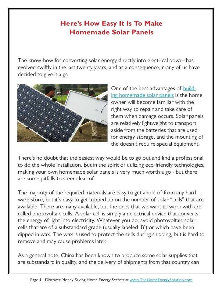 Here 39 s how easy it is to make homemade solar panels for How to make a simple solar panel for kids