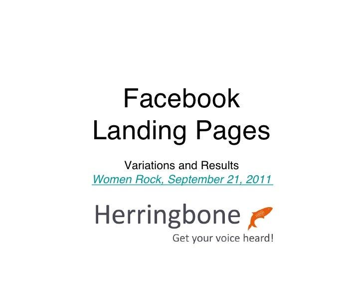 Herringbone landing pages