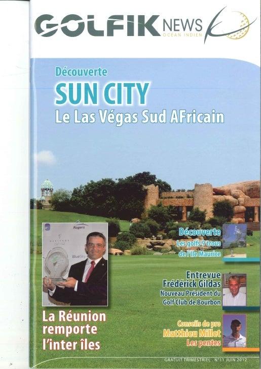 Heritage golf club maurice : golfik news ocean indien, juin 2012