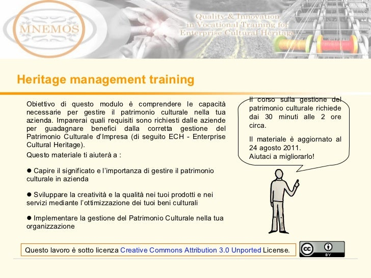 Heritage Management Learning Module IT
