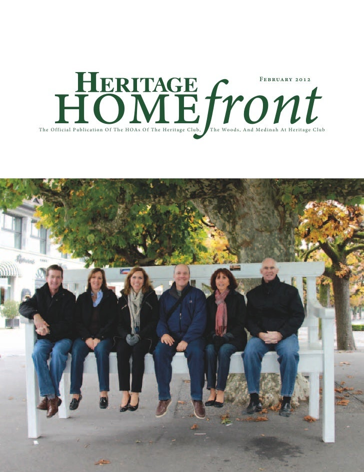 Heritage Club Homefront February Magazine