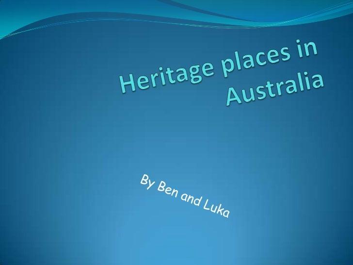 Heritage places in australia