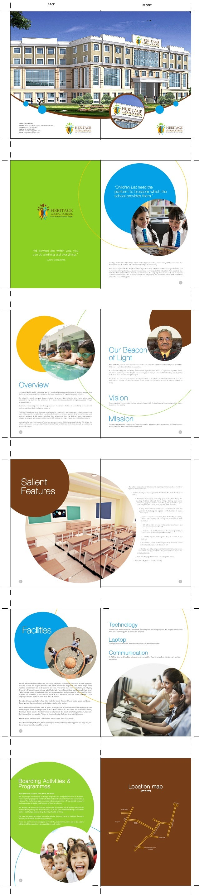 Heritage school brochure