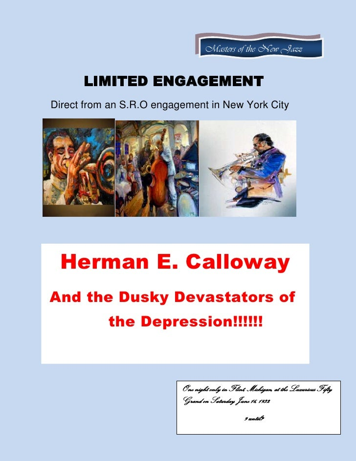 Herman E Calloway Flyer