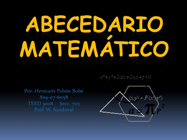 Abecedario en las  matemáticas