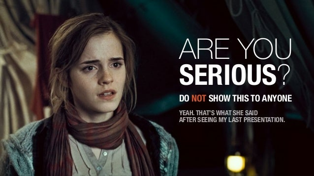 Lessons From Hermione About Presentations