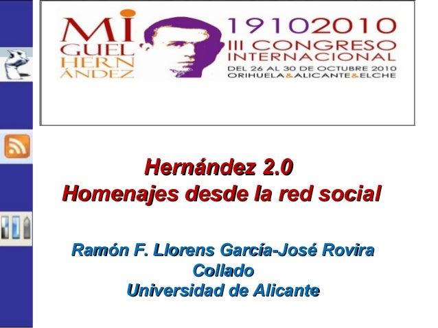 Ramón F. Llorens García-José RoviraRamón F. Llorens García-José Rovira ColladoCollado Universidad de AlicanteUniversidad d...