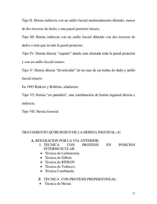 clasificacion gilbert hernias inguinales pdf