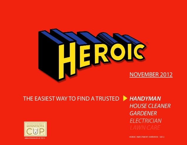 NOVEMBER 2012THE EASIEST WAY TO FIND A TRUSTED   HANDYMAN                                    HOUSE CLEANER                ...