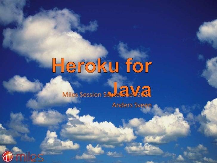 Heroku for Java