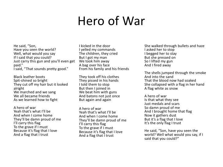 a war hero in my family