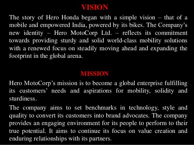 1 report on a company's vision mission Properly crafted mission statements (1)  the new mission statement proposed by the company's board of  is the creation of a mission statement and a vision.