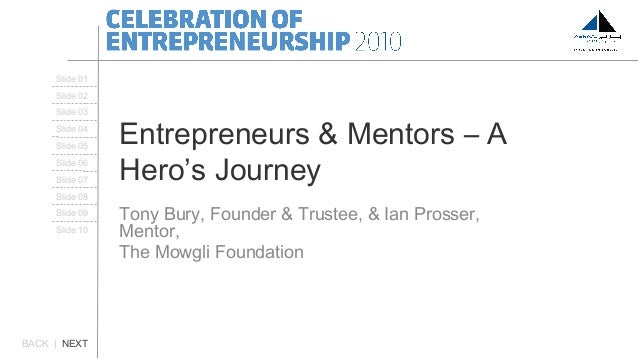 Entrepreneurs & Mentors – A Hero's Journey Tony Bury, Founder & Trustee, & Ian Prosser, Mentor, The Mowgli Foundation BACK...