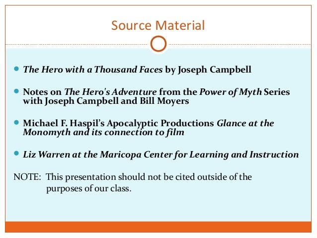 What movie should I do for a Journey of The Hero essay?