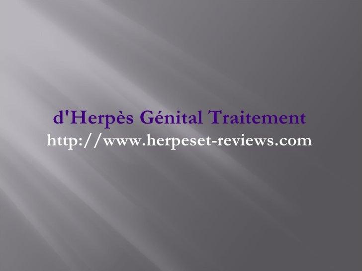 d'Herpès Génital Traitement