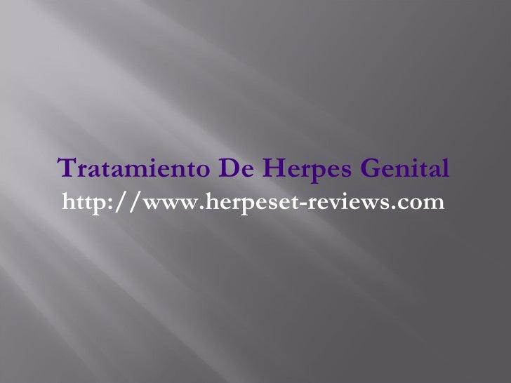 Tratamiento De Herpes Genital