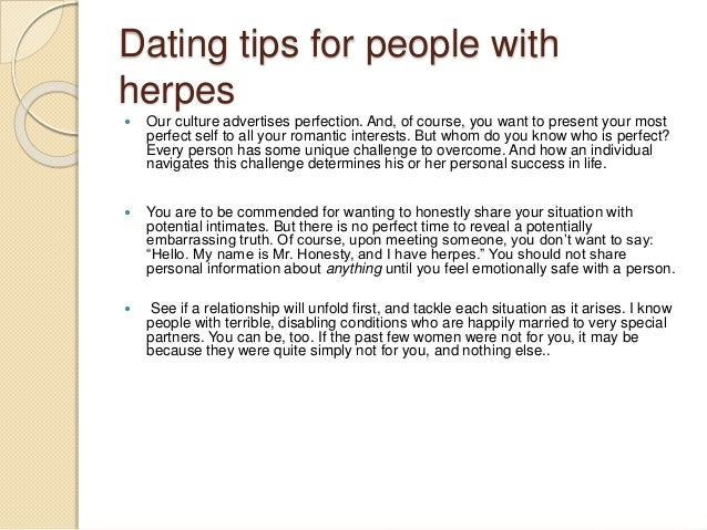 herpes and dating tips
