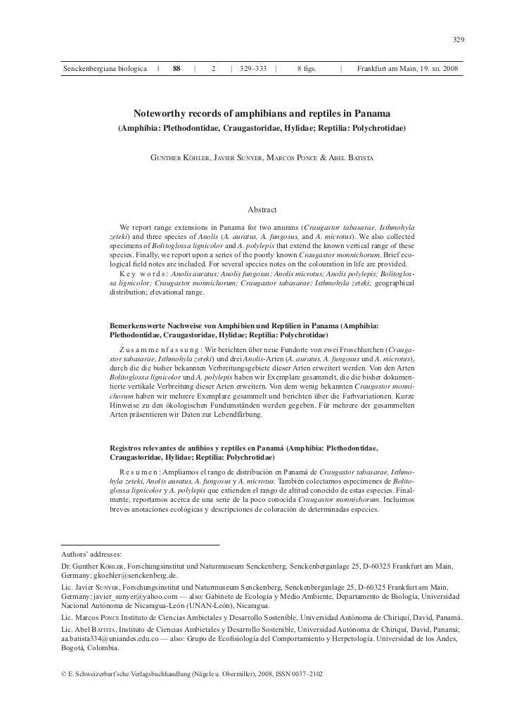 Herps pan distribution köhler et al. 2008