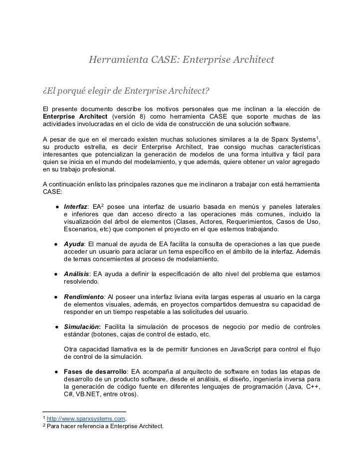 Herramienta CASE - Enterprise Architect