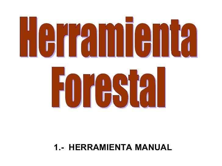 Herramienta  Forestal 1.-  HERRAMIENTA MANUAL