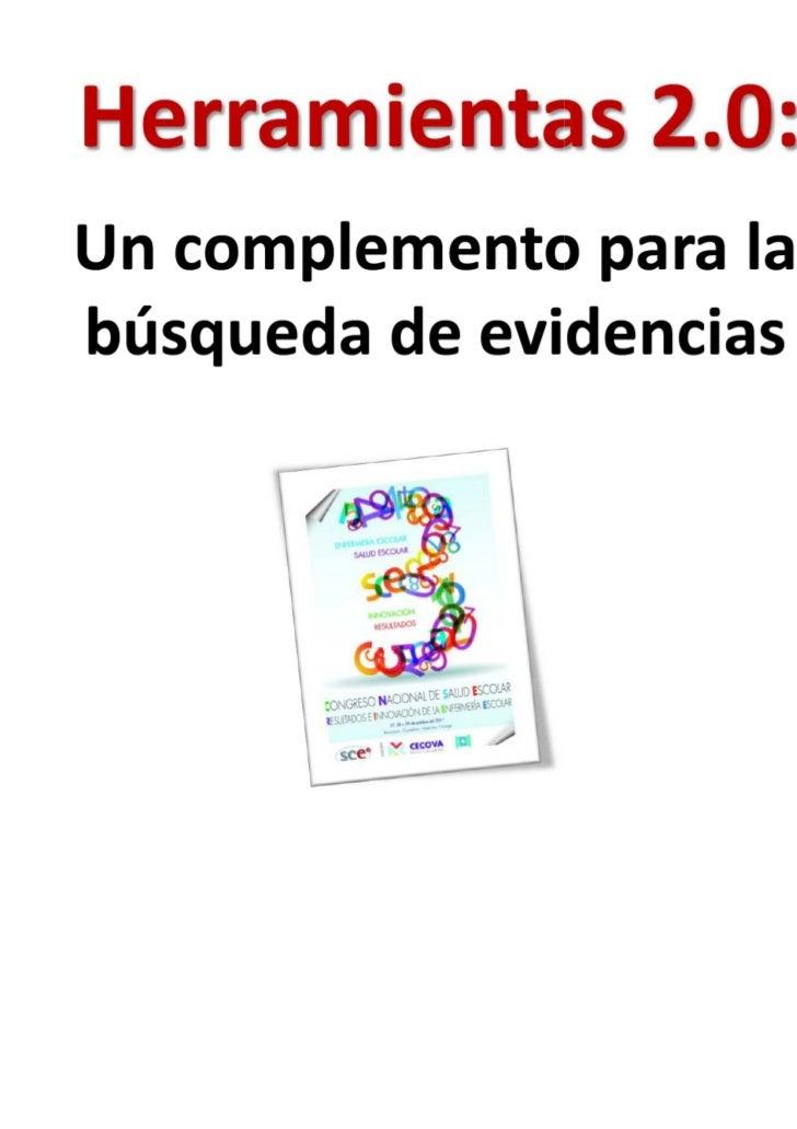 Herramientas 2.0, un complemento para la búsqueda de evidencias