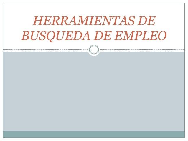 Herramientas de búsqueda de empleo