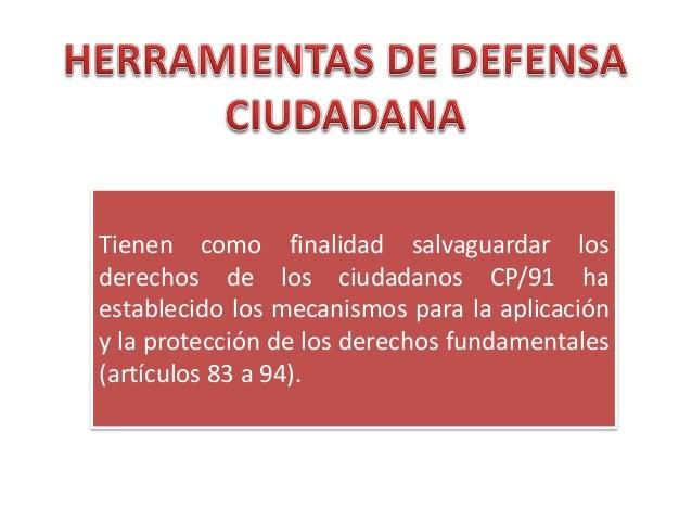 Herramientas de defensa ciudadana