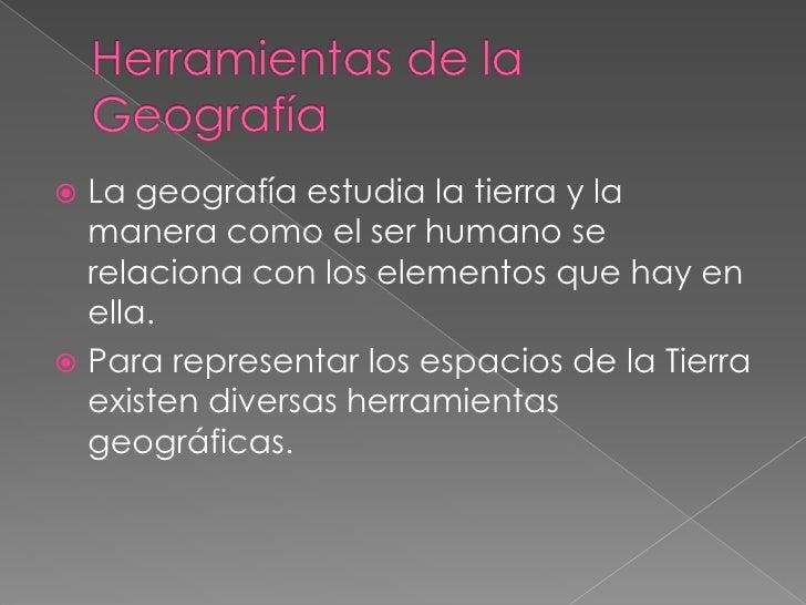 Herramientas de la geografía