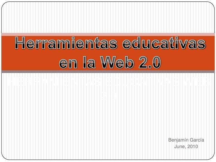 Herramientas educativas en la web 2.0