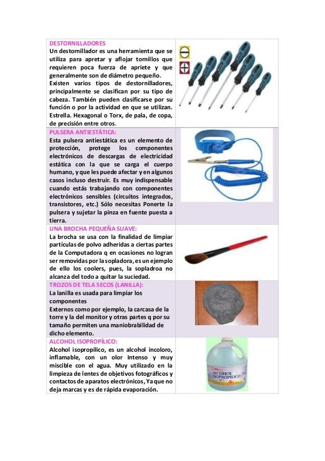 Herramientas existentes para el mantenimiento preventivo for Herramientas que se utilizan en un vivero