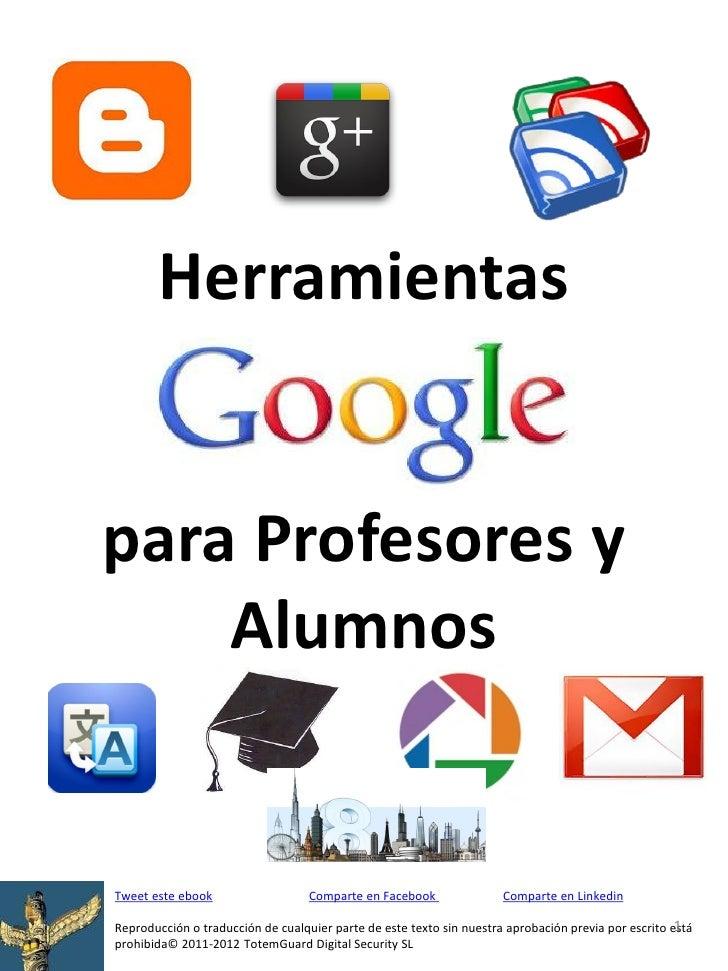 Herramientas Google para docentes y alumnos