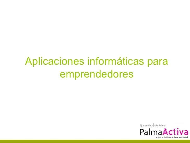 PalmaActiva - Aplicaciones informáticas para emprendedores