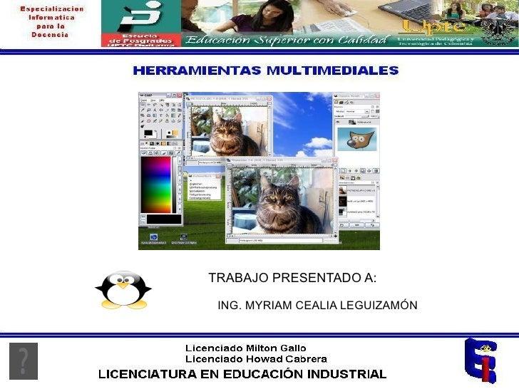 Herramientas Multimediales