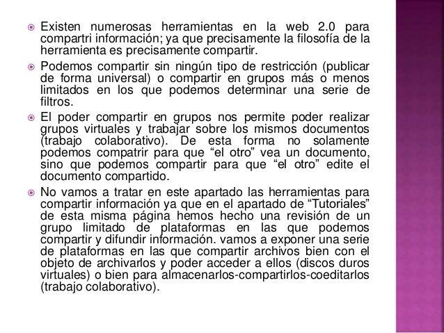 Herramientas Con Filosofia Web 2.0 Herramientas en la Web 2.0