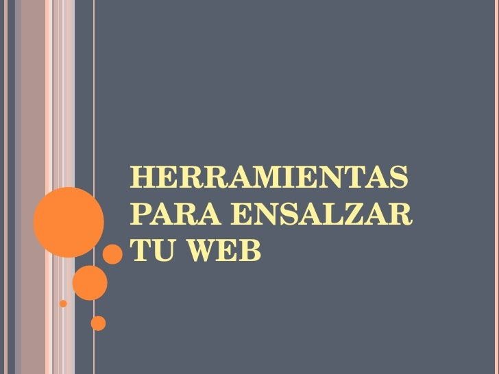 HERRAMIENTAS PARA ENSALZAR TU WEB