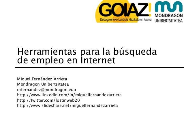 Herramientas para la búsqueda de empleo en internet