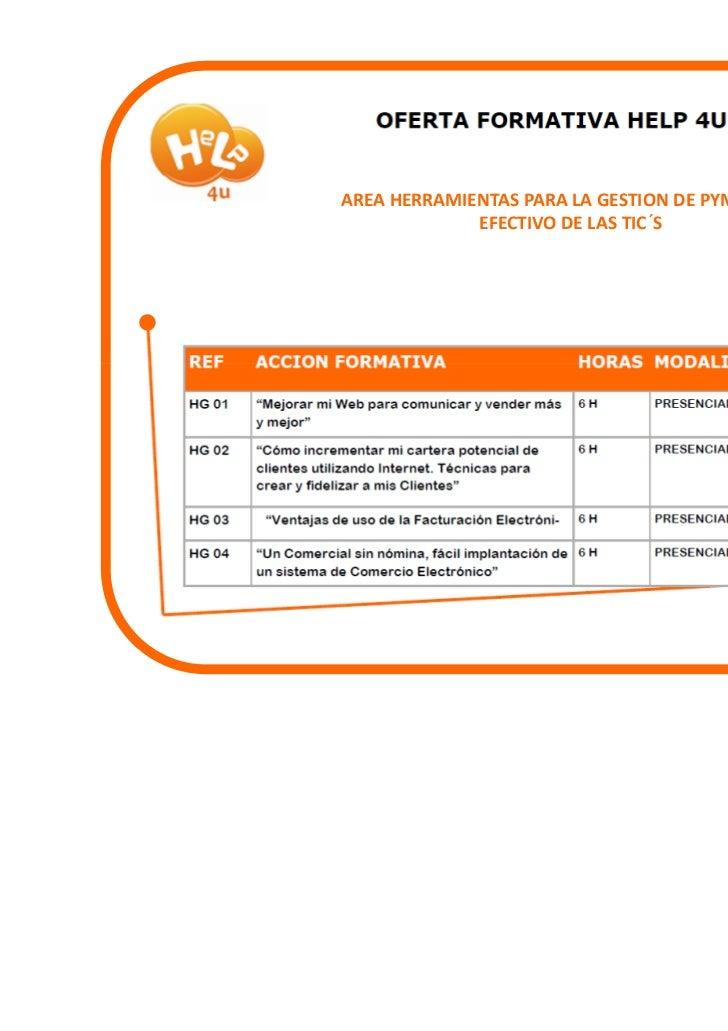 Cursos Area de Herramientas para la gestion de pymes. uso efectivo de las tic´s