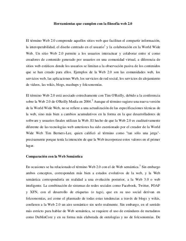 Herramientas Con Filosofia Web 2.0 Con la Filosofía Web 2.0el