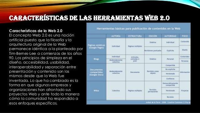 Herramientas Con Filosofia Web 2.0 Las Herramientas Web 2.0