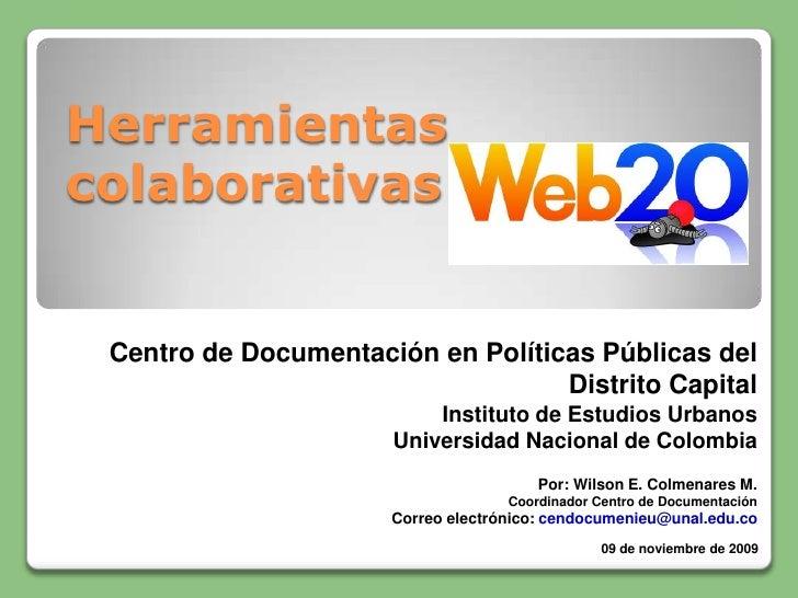Herramientas colaborativas Web 2.0