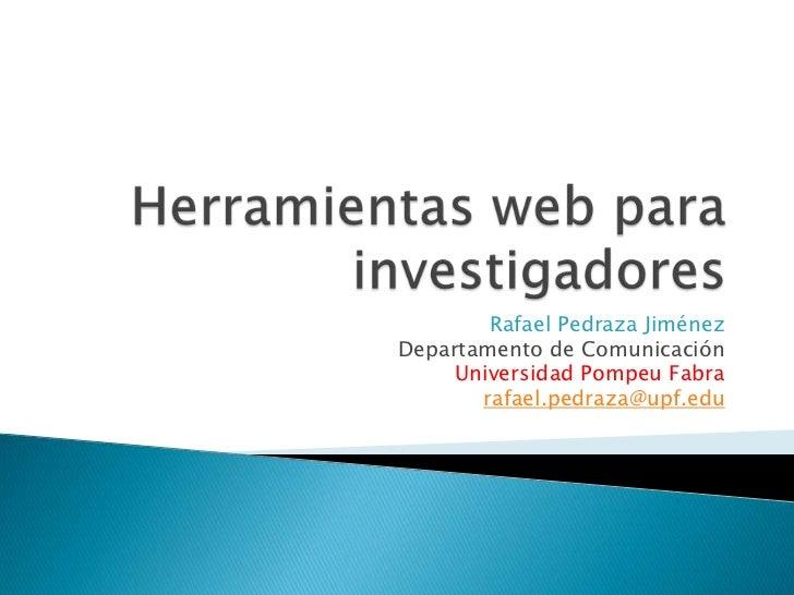 Herramientas web para investigadores