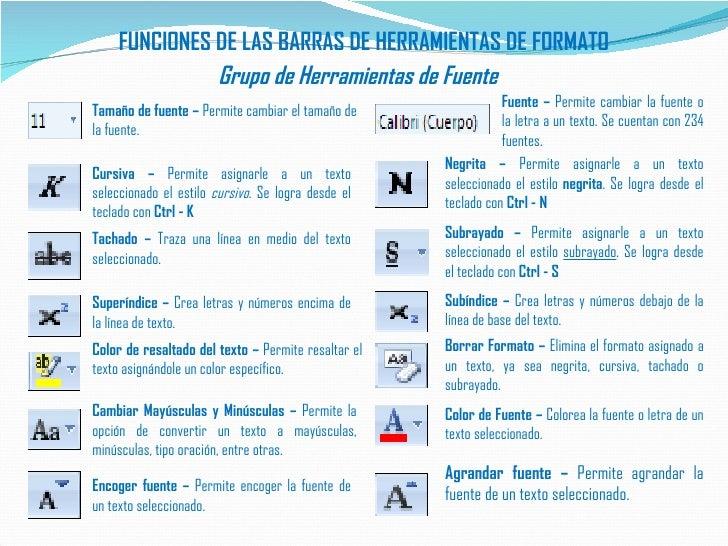 Herramientas word 2007 formato