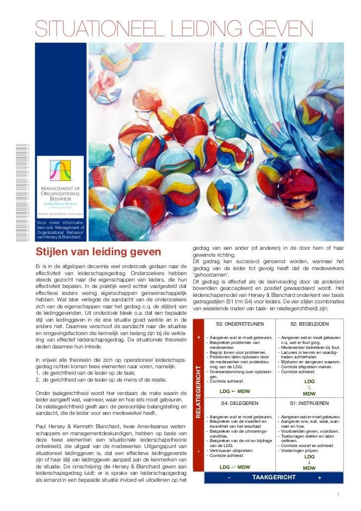Management summary door karel van Wijngaarden                                                SITUATIONEEL LEIDING GEVEN   ...