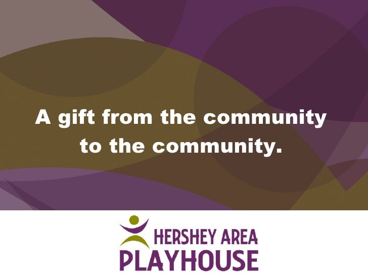 A gift from the community to the community.