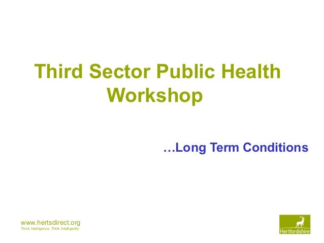 www.hertsdirect.org Think Intelligence, Think Intelligently Third Sector Public Health Workshop …Long Term Conditions