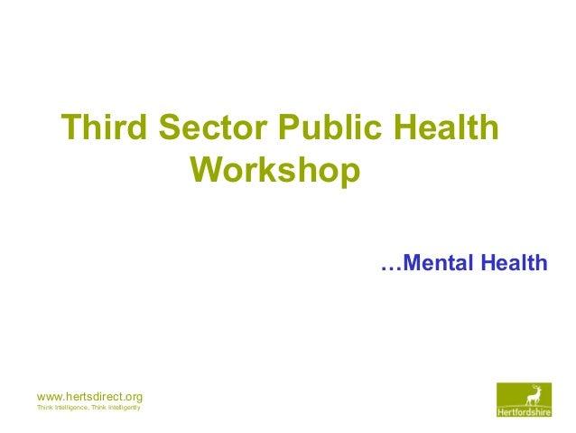 Herts third sector mental health presentation final
