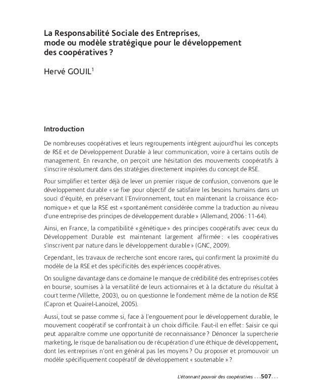 34-Gouil_Mise en page 1 12-09-05 14:36 Page507                La Responsabilité Sociale des Entreprises,                mo...