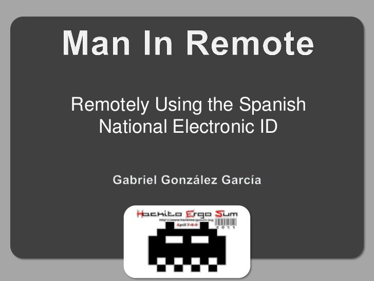 Remotely Using the Spanish  National Electronic ID