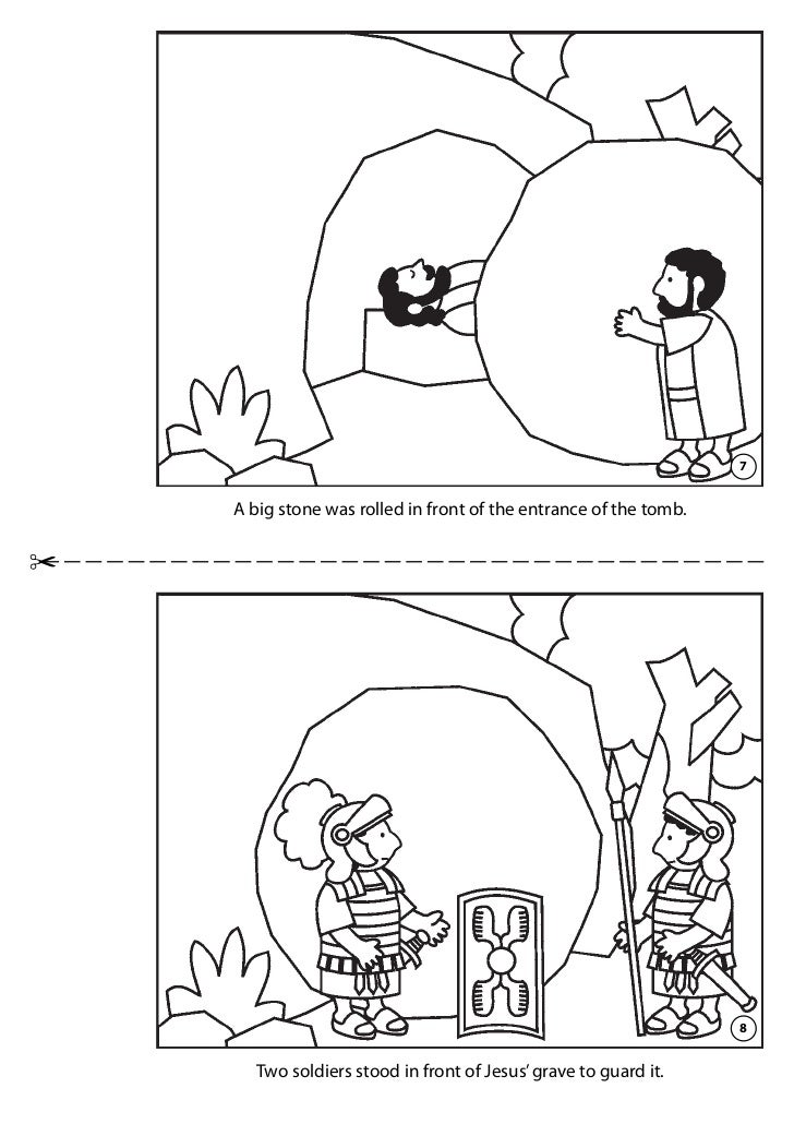 Jesus Burial Tomb Coloring Page Coloring Pages